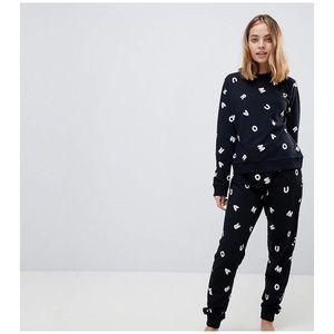 ASOS • black alphabet lounge jumper sweatshirt